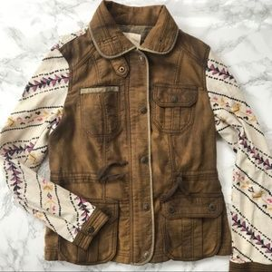 Free People Army Inspired Utility Jacket Size XS